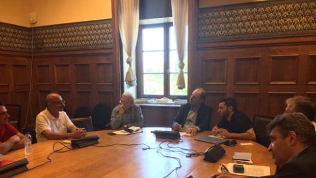 Συνάντηση Θραψανιώτη και Επιτροπής Σητειακών  με Σταθάκη για τις ΑΠΕ στη Σητεία