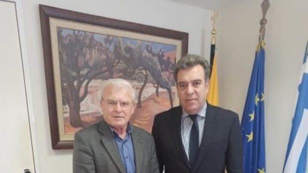 Συνάντηση του Μανόλη Θραψανιώτη με τον Υφυπουργό Τουρισμού  Μάνο Κόνσολα