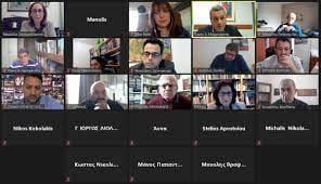 Tηλεδιάσκεψη τουΤομέα Εργασίας και Κοινωνικής Πολιτικής της Κ.Ο. του ΣΥΡΙΖΑ Προοδευτική Συμμαχία με τους Προέδρους, Αντιπροέδρους και Γενικούς Γραμματείς των Εργατικών Κέντρων της Κρήτης και της Ρόδου, παρουσία και των βουλευτών Κρήτης και Δωδεκανήσου του ΣΥΡΙΖΑ Προοδευτική Συμμαχία